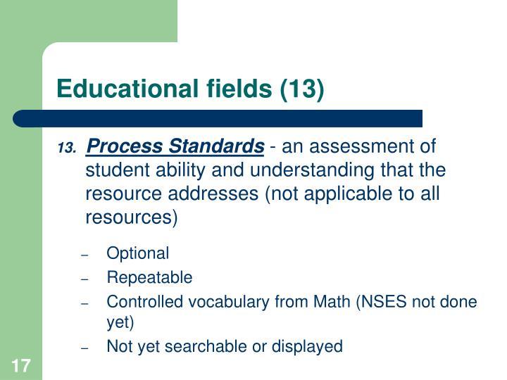 Educational fields (13)