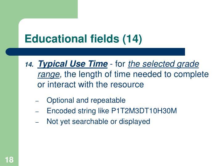 Educational fields (14)