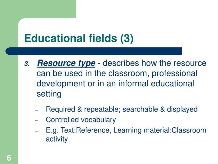 Educational fields (3)