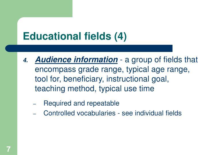 Educational fields (4)