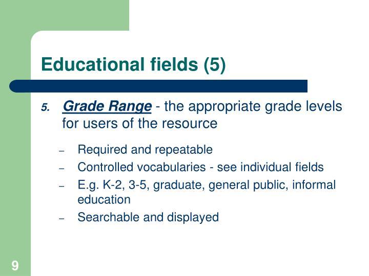 Educational fields (5)