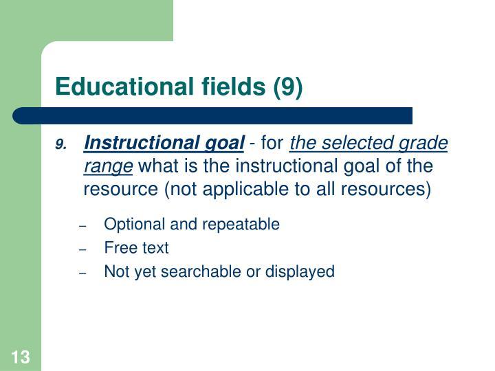 Educational fields (9)