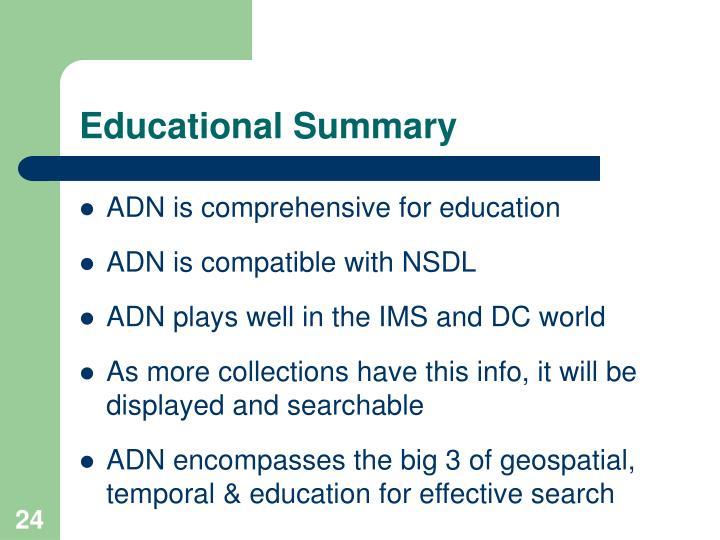 Educational Summary