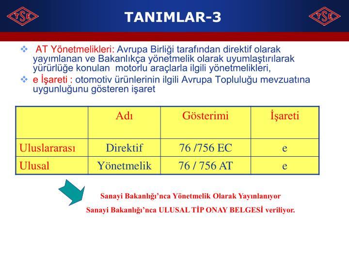 TANIMLAR-3