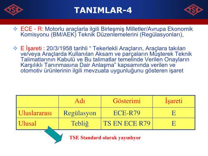 TANIMLAR-4