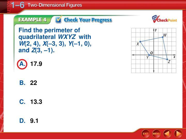 Find the perimeter of quadrilateral