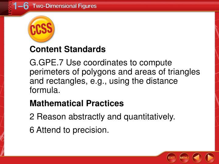 Content Standards