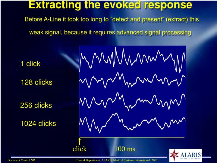 Extracting the evoked response