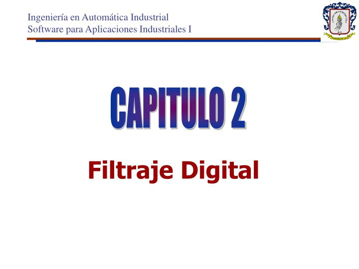 Filtraje digital