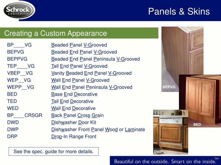 Panels & Skins