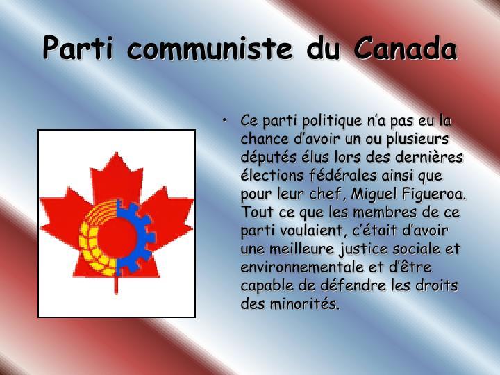 Parti communiste du Canada