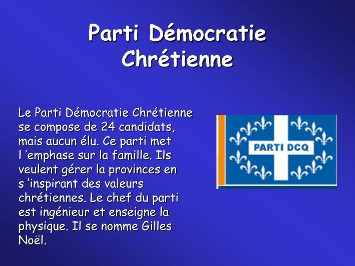 Parti Démocratie Chrétienne