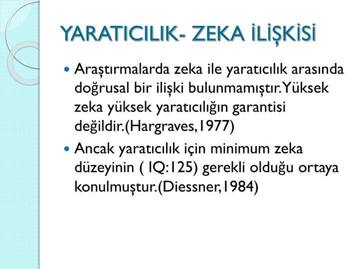 YARATICILIK- ZEKA LKS