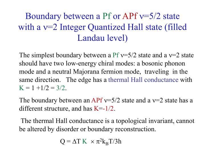 Boundary between a