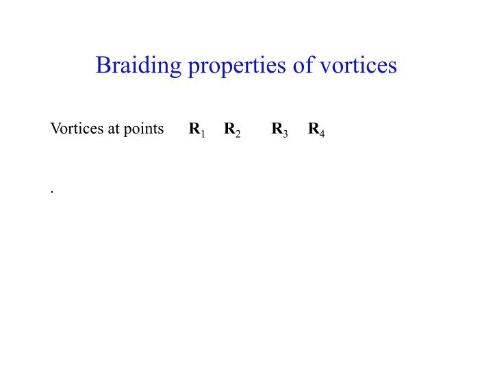 Braiding properties of vortices