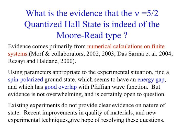 What is the evidence that the