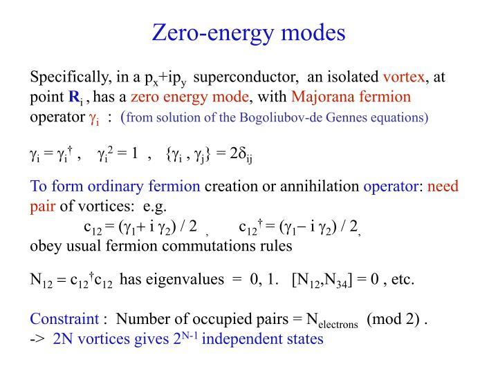 Zero-energy modes