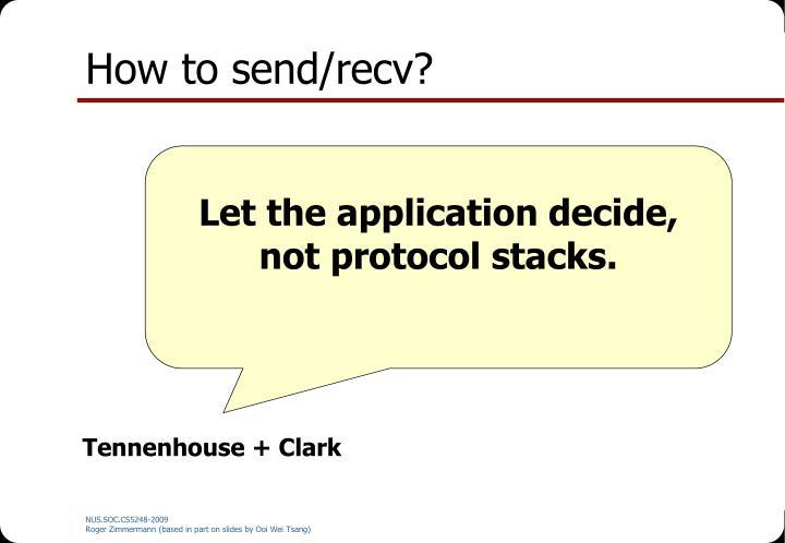 How to send/recv?