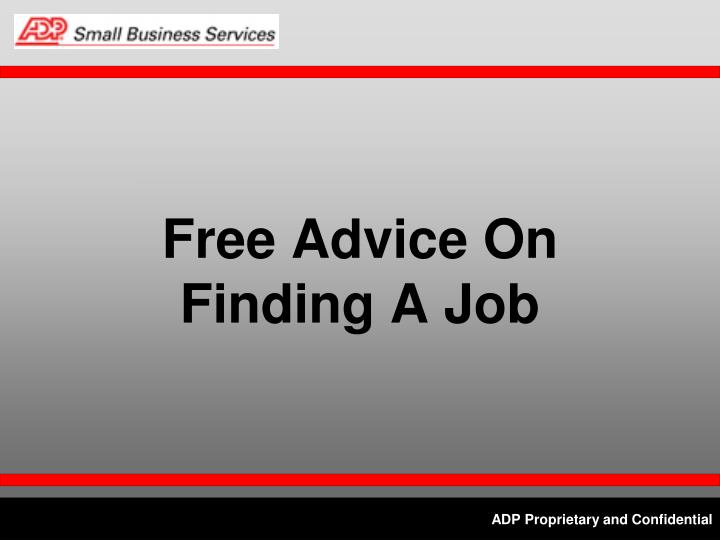 Free Advice On