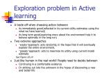 exploration problem in active learning1