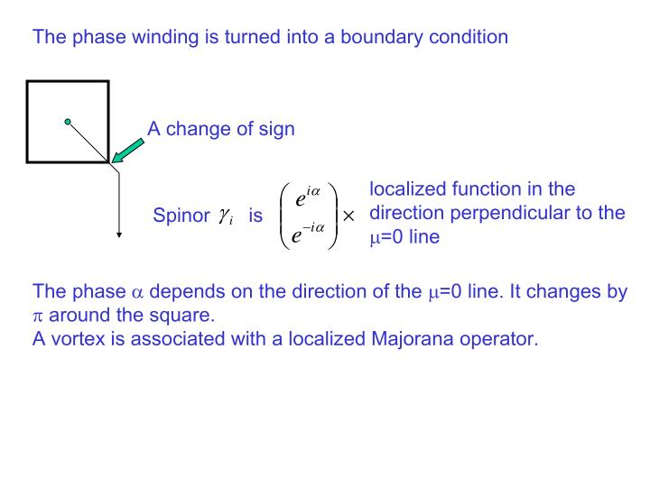 The phase winding is turned into a boundary condition