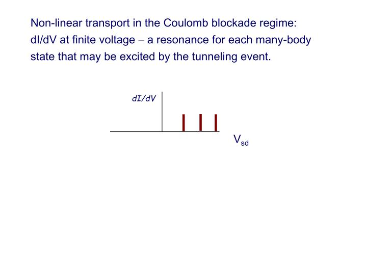 Non-linear transport in the Coulomb blockade regime: