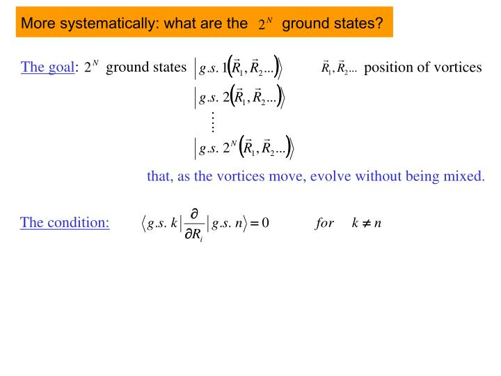 More systematically: what are the        ground states?