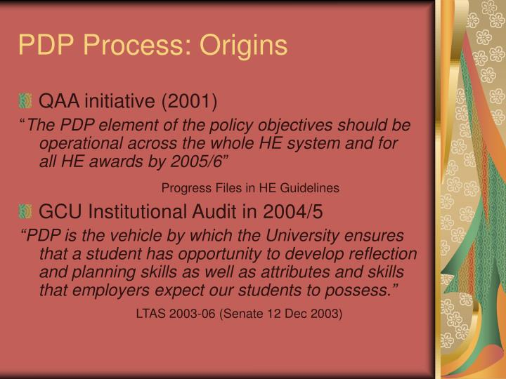 PDP Process: Origins