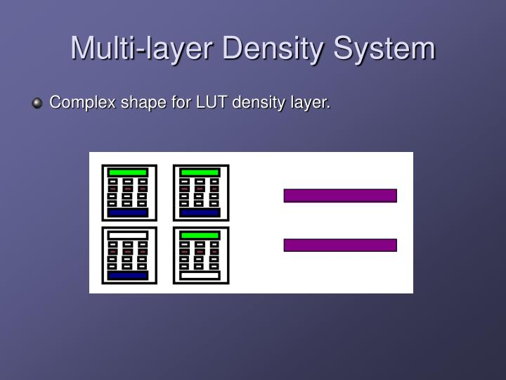 Multi-layer Density System