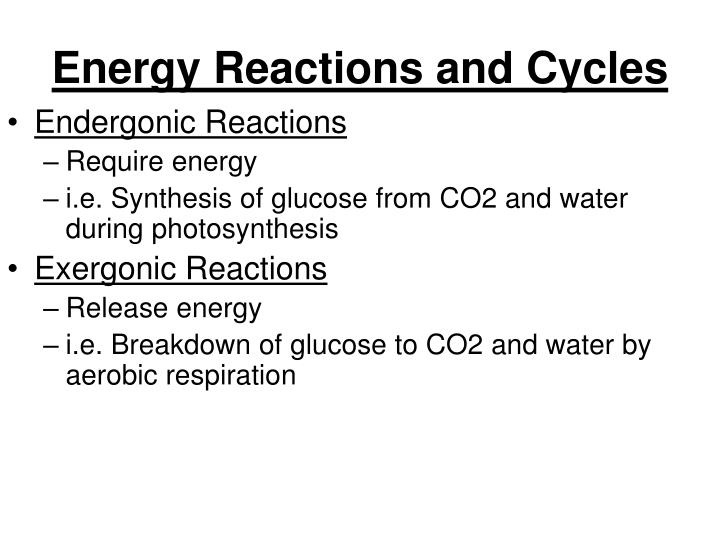 Energy Reactions and Cycles
