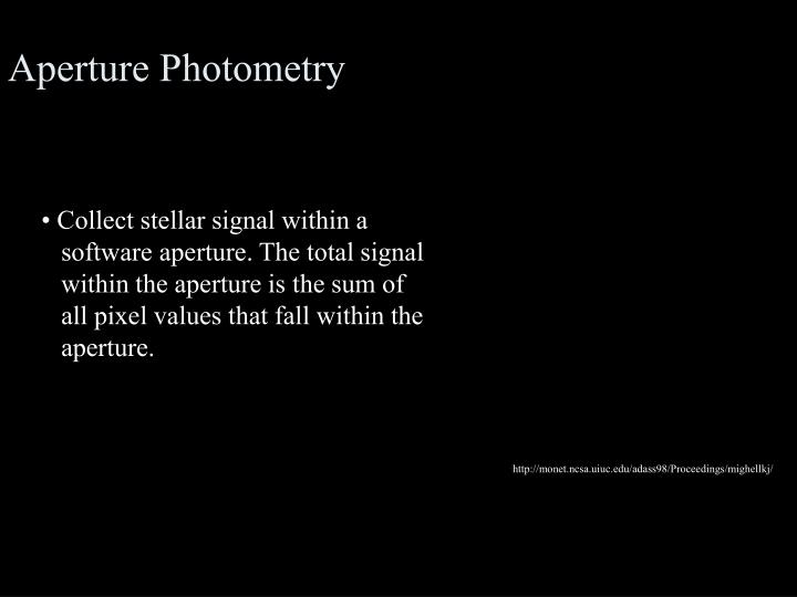 Aperture Photometry