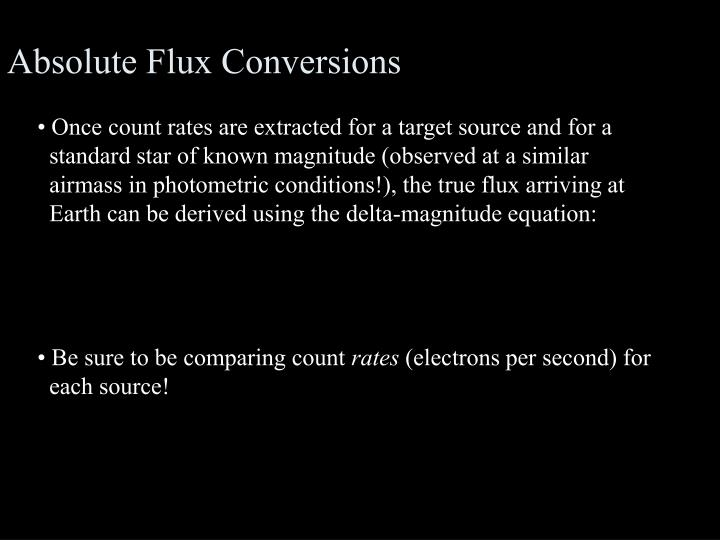 Absolute Flux Conversions
