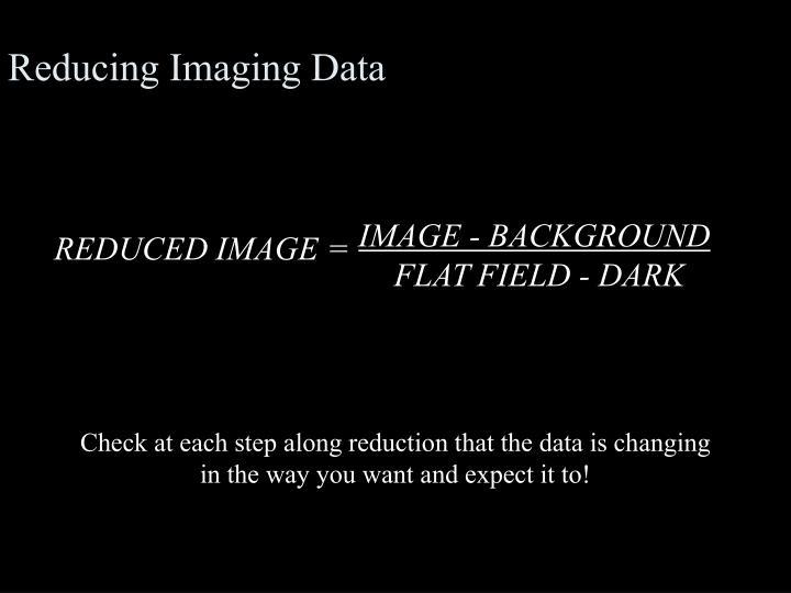 Reducing Imaging Data
