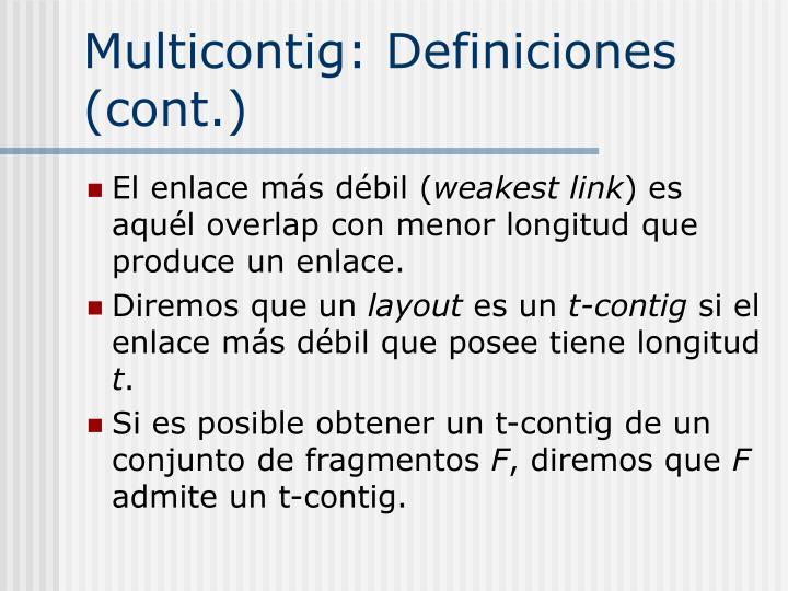 Multicontig: Definiciones (cont.)