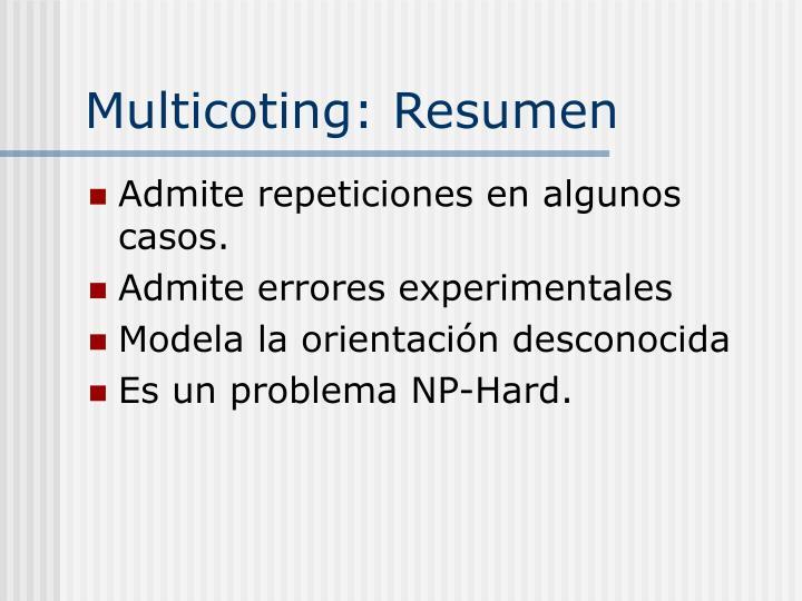 Multicoting: Resumen