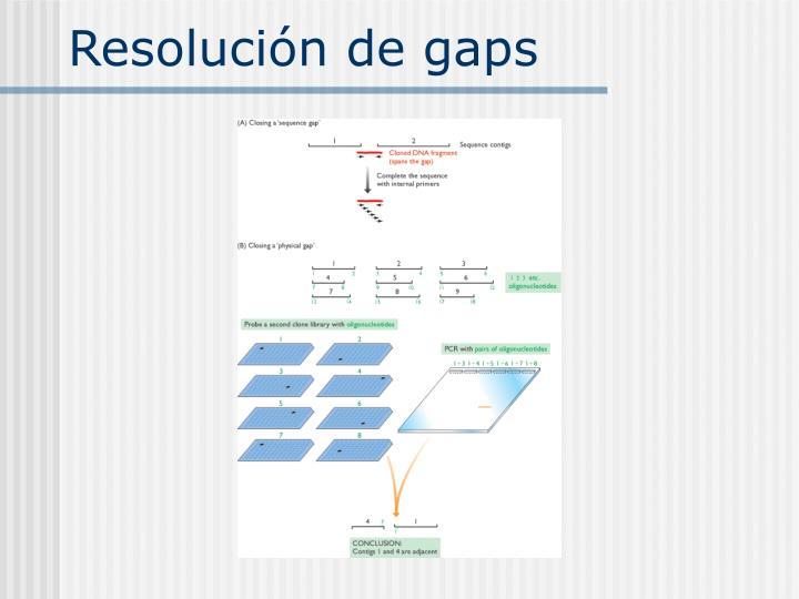 Resolución de gaps