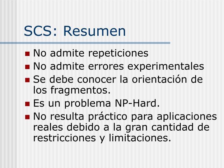 SCS: Resumen