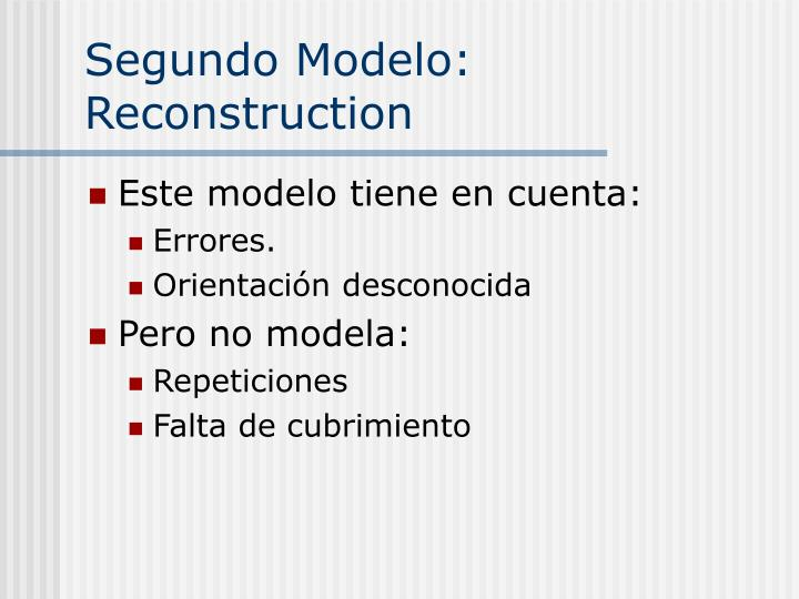 Segundo Modelo: