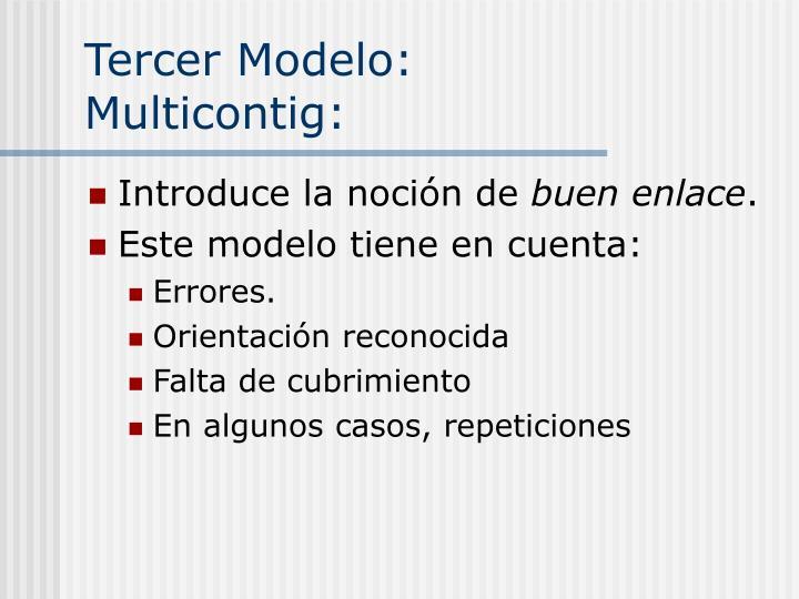 Tercer Modelo: