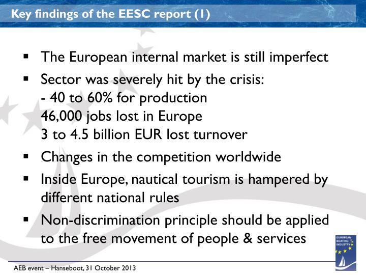 Key findings of the EESC report (1)