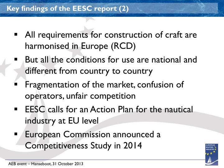 Key findings of the EESC report (2)
