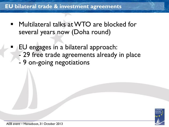 EU bilateral trade & investment agreements