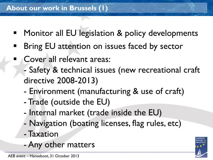 About our work in Brussels (1)