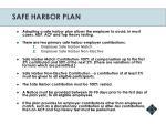 safe harbor plan