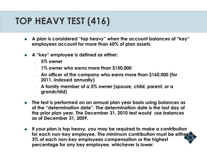 TOP HEAVY TEST (416)
