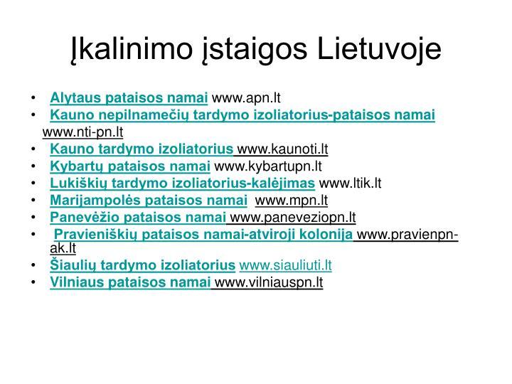 Įkalinimo įstaigos Lietuvoje