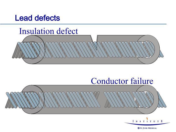 Insulation defect