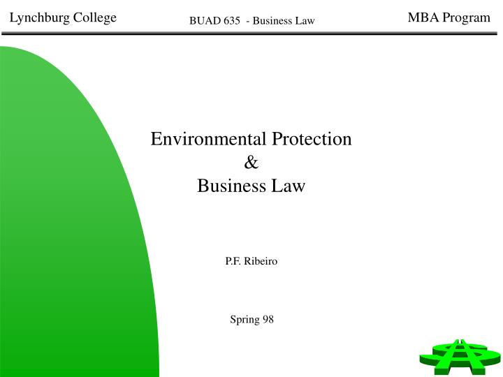 Environmental protection business law
