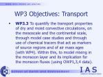 wp3 objectives transport