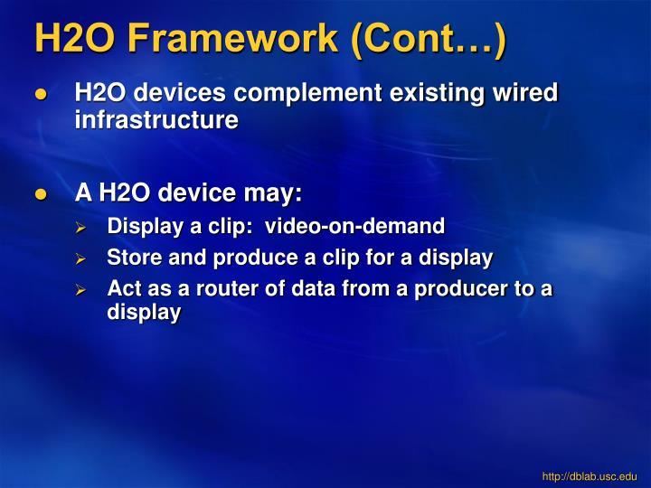 H2O Framework (Cont…)